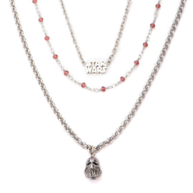 jcpenney.com | Star Wars® Stainless Steel Chewbacca 3-Tiered Pendant Necklace