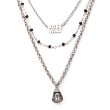 jcpenney.com | Star Wars® Stainless Steel Darth Vader 3-Tiered Pendant Necklace