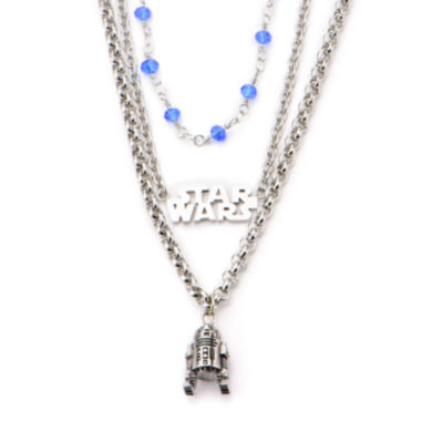 jcpenney.com | Star Wars® Stainless Steel R2D2 3-Tiered Pendant Necklace