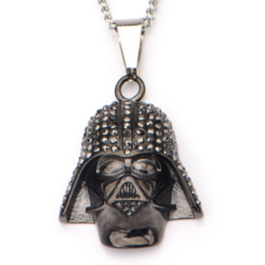jcpenney.com | Star Wars® Black IP Stainless Steel Darth Vader Pendant Necklace