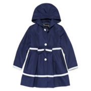 Rothschild Bow-Waist Hooded Rain Jacket - Toddler Girls 2t-4t
