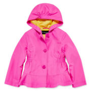 Rothschild Ruffle Hooded Rain Jacket - Girls 7-16