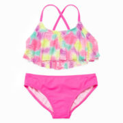 Tie Dye Flounce 2-pc. Swimsuit - Girls 7-16