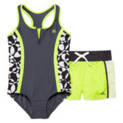 ZeroXposur® 2-pc. Swimsuit with Shorts Set - Girls 7-16