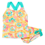 Palm Punch 2-pc. Tankini Swimsuit - Girls 7-16