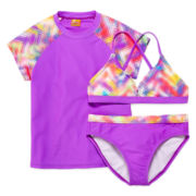 Angel Beach 3-pc. Swim Set - Girls