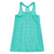 Breaking Waves Crochet Cover-Up Tunic - Girls 7-16