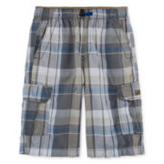 UNIONBAY® Lyle Plaid Cargo Shorts - Boys 8-20