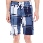 U.S. Polo Assn.® Block Plaid Cargo Swim Shorts