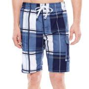 U.S. Polo Assn.® Block Plaid Cargo Swim Shorts
