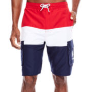 U.S. Polo Assn.® Tricolor Block Cargo Swim Shorts