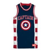Captain America Sleeveless Basketball Jersey