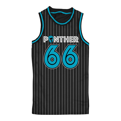 Black Panther Sleeveless Basketball Jersey