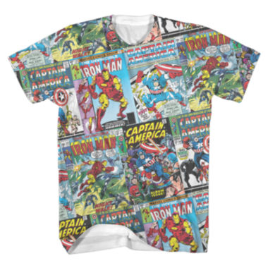 jcpenney.com | Marvel Comic Covers Short-Sleeve Tee