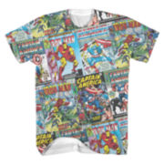 Marvel Comic Covers Short-Sleeve Tee