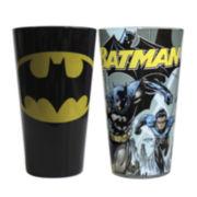 Batman Logo and Comic Book Cover 2-pc. Pint Glass Set