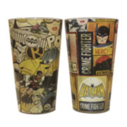 Batman Comic Full Wrap 2-pc. Pint Glass Set