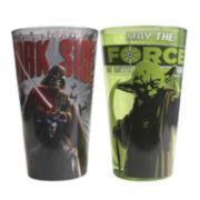 Star Wars® Darth Vader and Yoda 2-pc. Pint Glass Set