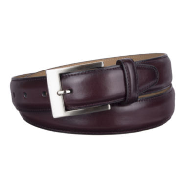 jcpenney.com | Stafford® Feather Edge Belt with Brushed Nickel Buckle - Big & Tall