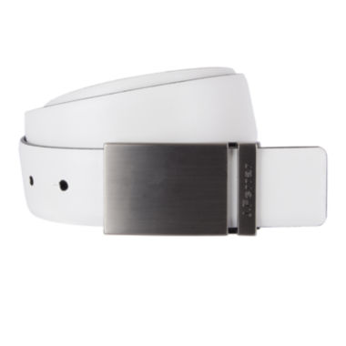 jcpenney.com | JF J. Ferrar® Feather Edge Reversible Belt with Plaque Buckle - Big & Tall