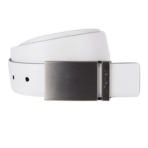 JF J. Ferrar® Feather Edge Reversible Belt with Plaque Buckle - Big & Tall