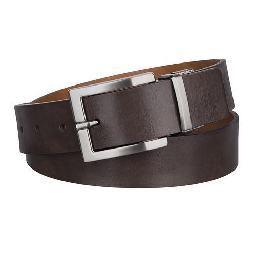 JF. J Ferrar® Cut-Edge Reversible Belt with Mini Buckle Design