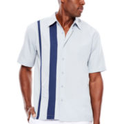 The Havanera Co.® Short-Sleeve Asymmetrical Woven Shirt