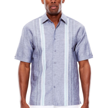 jcpenney.com | The Havanera Co.® Short-Sleeve Striped Woven Shirt