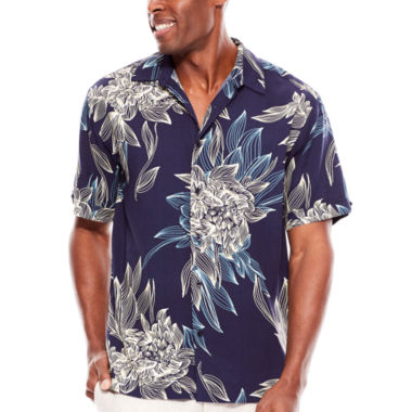 jcpenney.com | The Havanera Co.® Short-Sleeve Floral-Print Woven Shirt