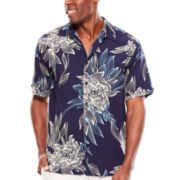 The Havanera Co.® Short-Sleeve Floral-Print Woven Shirt