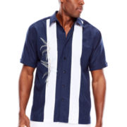 The Havanera Co.® Short-Sleeve Embroidered Woven Shirt