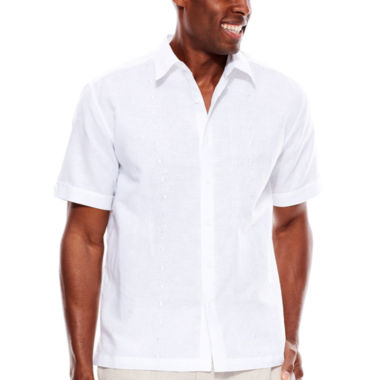 jcpenney.com | The Havanera Co.® Short-Sleeve Geometric Embroidered Woven Shirt