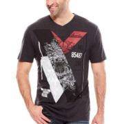 i jeans by Buffalo Carter Short-Sleeve Graphic V-Neck Tee - Big & Tall