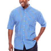 Dockers® Short-Sleeve Plaid Dress Shirt - Big & Tall
