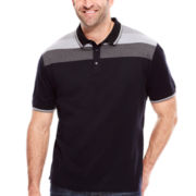 Claiborne® Short-Sleeve Striped Polo - Big & Tall
