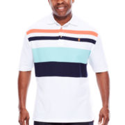 IZOD® Engineer Short-Sleeve Stripe Polo - Big & Tall