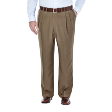 jcpenney.com | Haggar® eCLo™ Stria Classic-Fit Pleated Dress Pants - Big & Tall