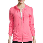 Chin-Up Long-Sleeve Lightweight Full-Zip Hoodie