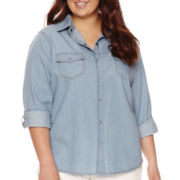 Arizona Denim Shirt - Juniors Plus