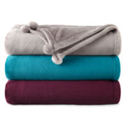 Home Expressions™ Pom-Pom Plush Throw