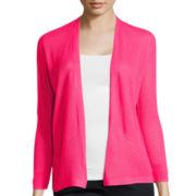 Worthington® 3/4-Sleeve Open Front Cardigan - Petite