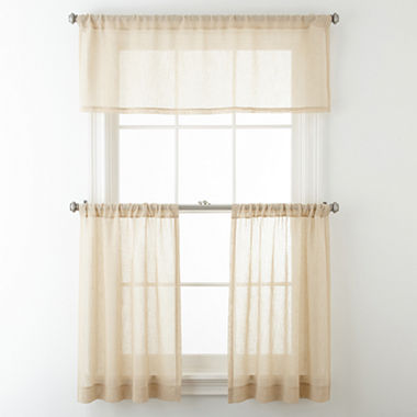 Jcpenney Home Bayview Rod Pocket Sheer Window Treatments Jcpenney