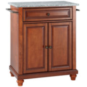 Pelham Small Granite-Top Portable Kitchen Island