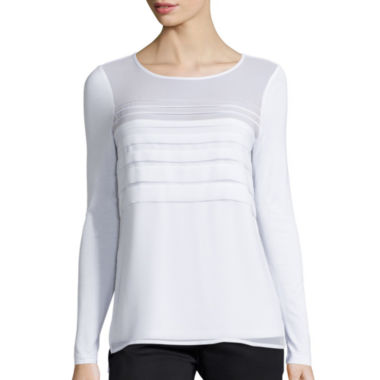 jcpenney.com | By Artisan Long-Sleeve Chiffon Top