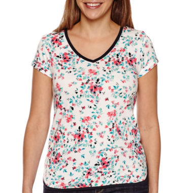jcpenney.com | Liz Claiborne® Short-Sleeve Printed Tee
