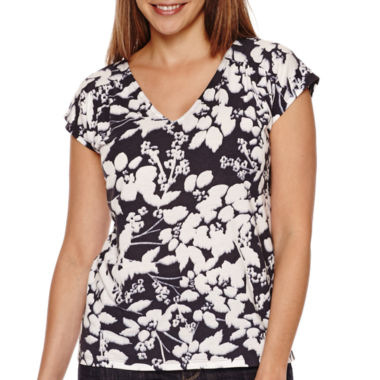 jcpenney.com | Liz Claiborne® Short-Sleeve V-Neck Tee - Tall