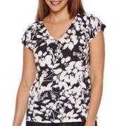 Liz Claiborne® Short-Sleeve Print Tee