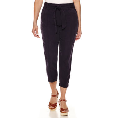 jcpenney.com | Liz Claiborne® Pull-On Cargo Crop Pants with Belt - Tall