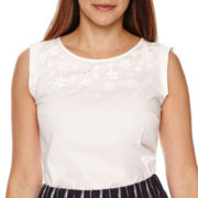 Liz Claiborne® Sleeveless 3D Top