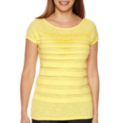 Liz Claiborne® Short-Sleeve Tiered Tee